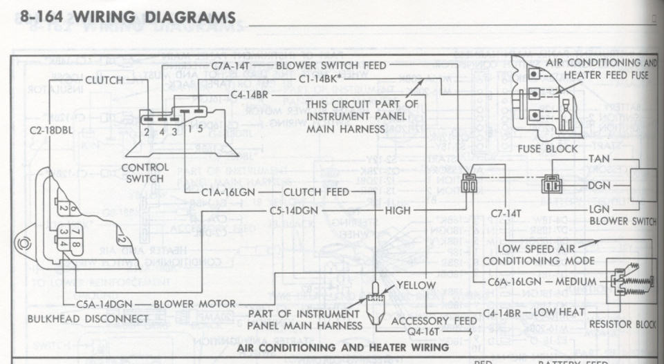 help heater a c blower motor switch wiring 1971 1974. Black Bedroom Furniture Sets. Home Design Ideas